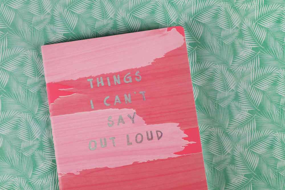things i can t say out load book on green textile